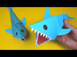 Moving Paper Shark Paper Crafts For Kids Youtube Paper