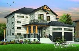 Modern House Plans  Contemporary Home Plans from    Lexington Modern Rustic home design   great covered terrace and open floor plan layout   W