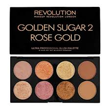 makeup revolution golden sugar 2 rose gold blush bronze highlight palette