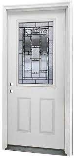 menards front doorsMastercraft Venice 36 x 80 Steel Half Lite Ext Door  RH at