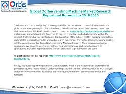 Vending Machine Report Magnificent Global Coffee Vending Machine Market Research Report And Forecast To