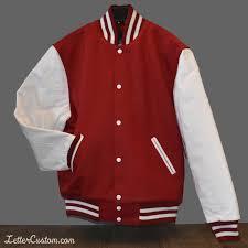 Red White Classic Varsity Jacket