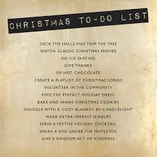 to do lis christmas to do list bright and beautiful