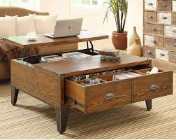 Add furniture that does double duty such as a coffee table that also