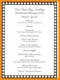 Dinner Program Templates Corporate Dinner Brochure Template Sample Event Program Free