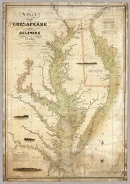 Chesapeake Bay Maps Charts Vintage Infodesign 37 Delaware Maps Delaware Bay Map