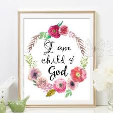 i am a child of god printable nursery quote art baptism gifts print printable wall art on wall art sayings for nursery with i am a child of god printable nursery from butterflywhisper on