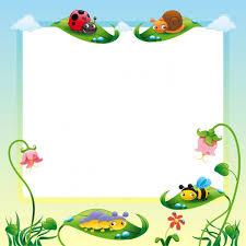 nature frame design free vector