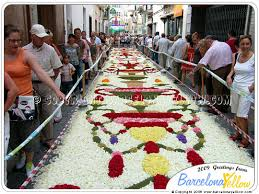 to see pictures sitges flower carpet festival corpus christi