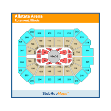 Allstate Arena Seating Chart Wwe Allstate Arena Rosemont Event Venue Information Get Tickets