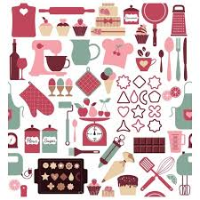 Ai Background With Elements Of The Bakery Vector Free Download Pikoff