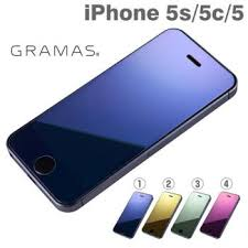gramas extra mirror tempered glass screen protecting sticker for iphone 5s 5c 5