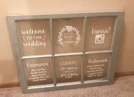 6 pane wood windows wood window wedding program rustic wooden window signs rustic wooden wedding signs wooden window frame wedding picture frames