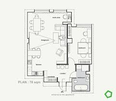 Square Kitchen Floor Plans Relaxing Color Schemes In 3 Efficient Single Bedroom Apartments