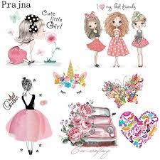 <b>Prajna</b> Fashion <b>Girls Heat Transfer</b> Colorful Summer Style Flower ...