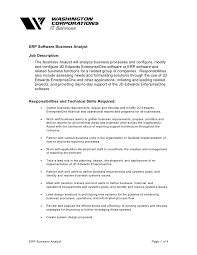 Data Entry Job Description For Resume Erp Software Business Analyst
