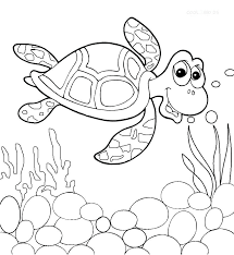 Sea Turtle Coloring Pages Sea Turtle Coloring Pages To Print Cute