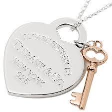 tiffany tiffany co necklace tiffany necklace tiffany co 30971531 return toe tiffany medium rtt return toe heart key pendant ss rubedo pink gold