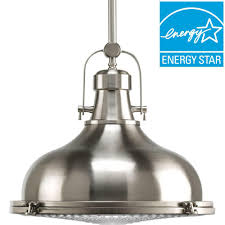 metallic pendant lighting design discoveries. Fresnel Lens Collection 1-Light Brushed Nickel Integrated LED Mini Pendant With Metallic Lighting Design Discoveries