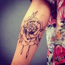 Cute Dream Catcher Tattoos 100 Dreamcatcher With Roses Tattoos Ideas 47