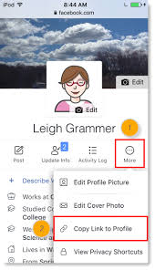 Copy Page Find The Url For A Facebook Profile Or Business Page