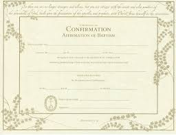 Baptism Certificate United Church Of Christ Confirmation Affirmation Of Baptism Certifica