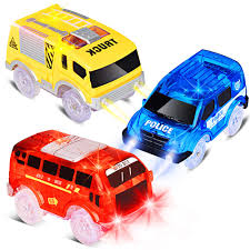 Led Light Toy Car Track Cars Replacement Only Light Up Toy Cars With 5 Flashing Led Lights Toys Racing Car Track Accessories Compatible With Magic Tracks And Neo Tracks