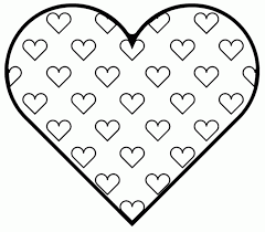 Heart Coloring Pages Cute To Print Hearts Color Free Anatomy For ...