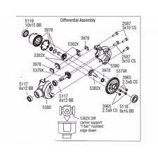 Rvo11x06 aluminum differential carrier case e maxx e revo xo 1