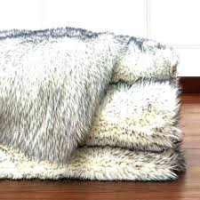 gray faux fur rug 8x10 grey white area fake sheepskin medium size of