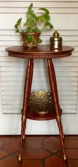 Red Pedestal Side Table by RevisitedConcepts on Etsy https://www.etsy.