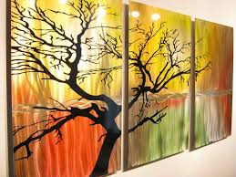 metal tree of life wall art unique colorful tree life wall art metal ponent art amp