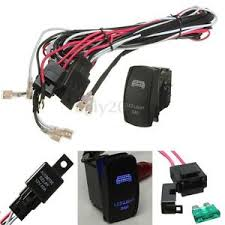 blue led light bar rocker switch wiring harness 40a relay fuse 12v wiring harness for led light bar image is loading blue led light bar rocker switch wiring harness