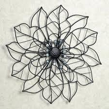 black metal wall art medium size of flower art silver medallion wall art abstract metal wall