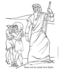 Free Bible Coloring Pages Moses – Color Bros
