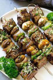 steak kabobs with garlic er