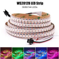 5V WS2812B RGB Dây Đèn LED 5050 Full Dẻo 30/60/144 Đèn LED/M Thông Minh  Addressable Điểm Ảnh ánh Sáng Đèn Led Chống Nước Ruy Băng|Dải Đèn LED