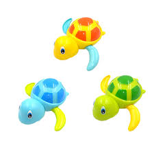 Children's toys beach small turtle small fish swimming play water ...