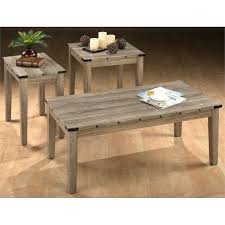jofran coffee table urban nature wood round