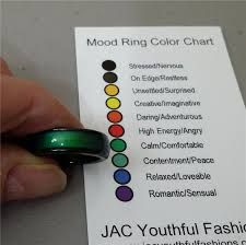 Natural Gemstone Magnetic Hematite Mood Ring With Mood Chart Size 5 6 7 8 9