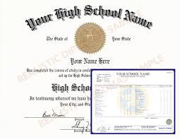 High Realistic School - And Transcripts Fake Diploma Diplomas