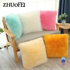 single sided plush cushion cover luxury