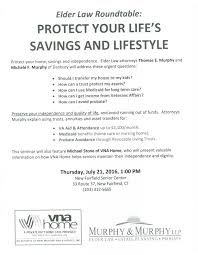 new fairfield senior center roundtable announcement protect your life savings and lifestyle 07 21 16