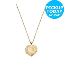 details about moon back 9ct gold plated silver heart mum 4 photo locket 18 inch necklace
