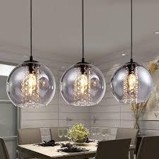 transpa glass crystal ball pendant light living room ceiling lamp chandelier