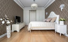classic bedroom ideas combination of white furniture and brown walls