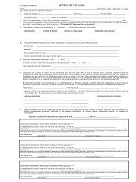 Affidavit Of Loss 16 Free Templates In Pdf Word Excel Download