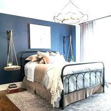 dark blue bedroom walls. Light Blue Bedroom Dark Furniture Navy Accent Wall Creates A Walls