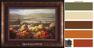 tuscan decorating colors on tuscan vineyard wall art with tuscan decorating colors wall color and paint colors