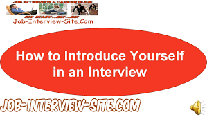 how to introduce yourself in interviews